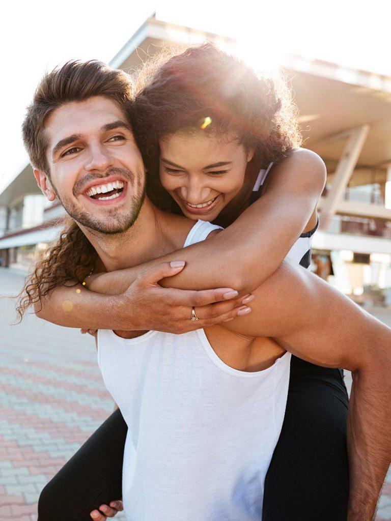 Happy couple at Lollapalooza